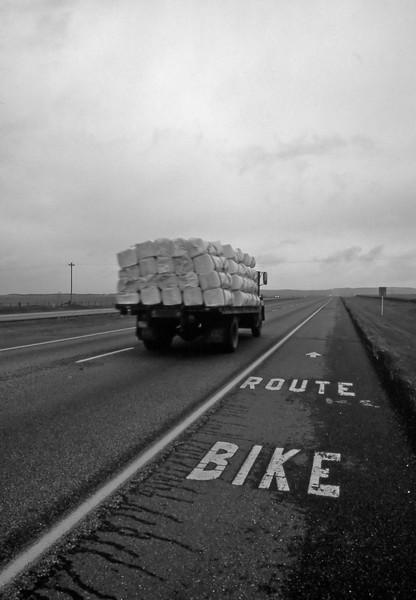 Bike Route - Hwy-1 West, Calgary, Alberta, Canada - Summer 1990