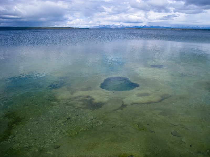 Lakeshore Geyser (under water) at West Thumb Geyser Basin