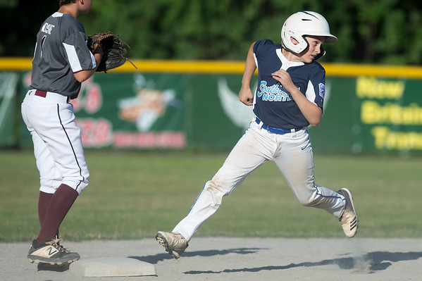 07/09/19 Wesley Bunnell | Staff Southington North vs Southington South in a Little League playoff game on Tuesday July 9, 2019 at Bill Petit Field. Sawyer Gravel (10).