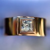 0.40ct Carre Cut Rose Gold Band 34