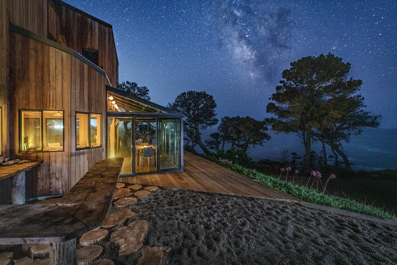 Bar Area at Night with Milky Way