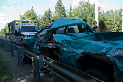 10-55 Tractor Trailer vs 2 Vehicles - Route 27, New Vineyard - July 29, 2010