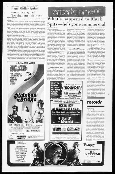 Daily Trojan, Vol. 65, No. 53, December 08, 1972