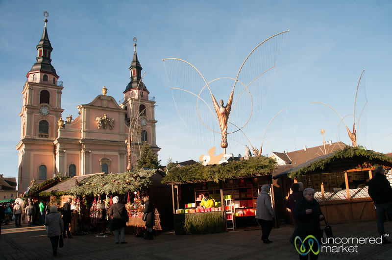 Church and Angels at Ludwigsburg Christmas Market - Germany