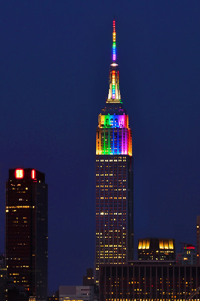 Empire State Building PRIDE Colors