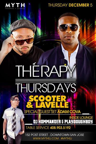 Therapy Thursdays @ Myth Taverna & Lounge 12.5.13