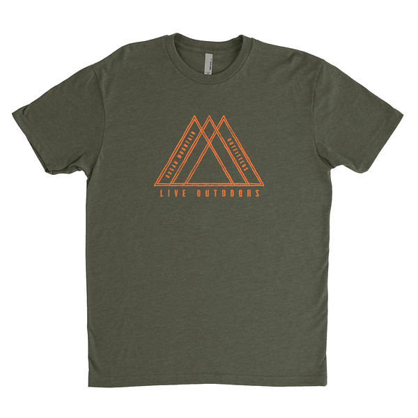 Organ Mountain Outfitters - Outdoor Apparel - Mens T-Shirt - Live Outdoors Tee - Military Green.jpg