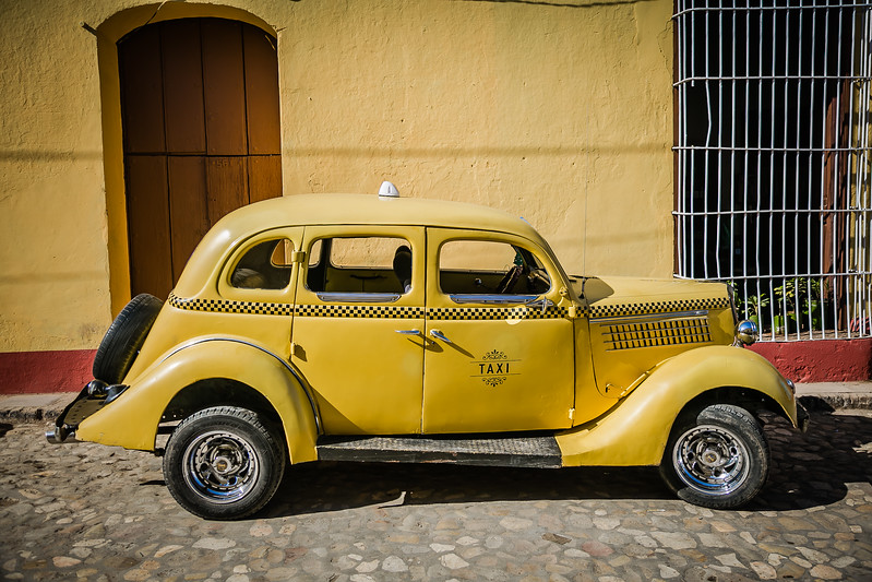 Trinidad Cuba Taxi - Lina Stock