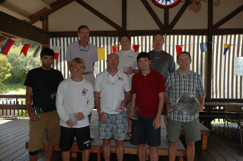 Full Rig Winners (L-R) Front: Brennen Drysdale (5th), Kyle Swenson (4th), Eric Reinke (3rd), Erich Hesse (2nd), Ted Morgan (1st) Back: Roger Link (8th), John Coolidge (6th), Luke Shingledecker (7th)