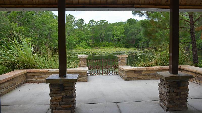 Stone pavilion at Jacksonville Arboretum