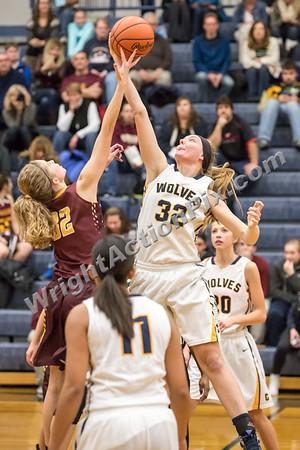 2015 12 04 Clarkston Varsity Girls Basketball vs Davison