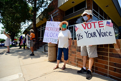 Photos: Rally to Support USPS in Longmont