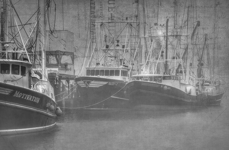 Misty Fishing Boats