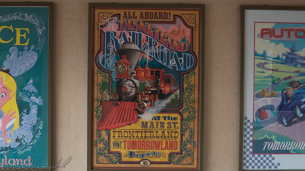 Disneyland Resort, Disneyland, Railroad, Attraction, Poster, Main Street USA
