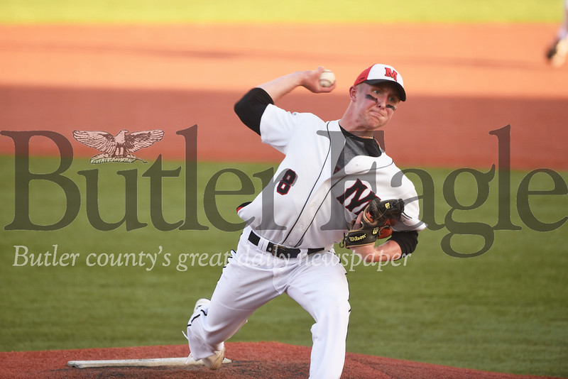 Moniteau starting pitcher Hunter Fitzingo. Seb Foltz/Butler Eagle