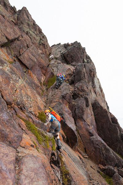 Climbing Foley Peak