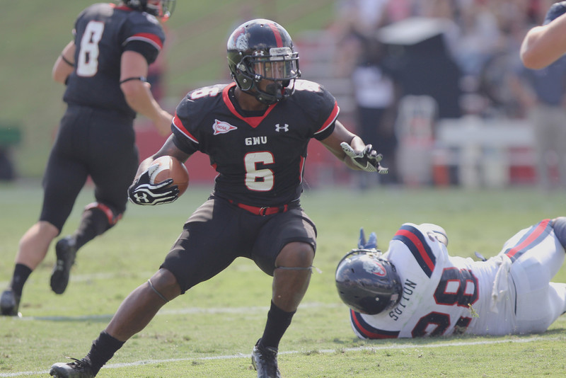 Kenny Little (6) carries the ball to the end zone for a Gardner-Webb touchdown