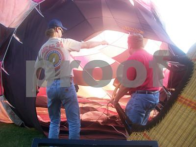 hot air balloon July 2010