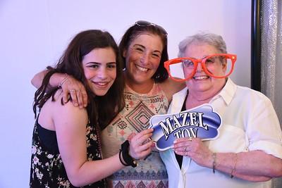 Hannah's bat mitzvah celebration at the Sabes JCC