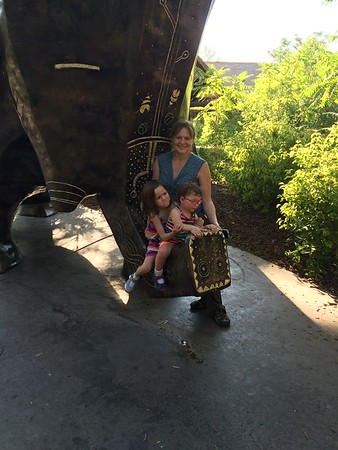 July Afternoon at the Zoo with the girls
