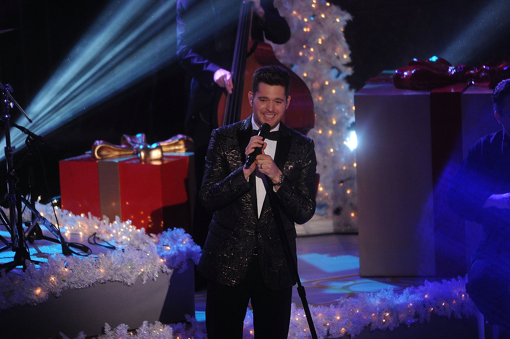 . Michael Bublé performs during the 83rd Annual Rockefeller Center Christmas Tree Lighting Ceremony on Wednesday, Dec. 2, 2015, in New York. (Photo by Brad Barket/Invision/AP)