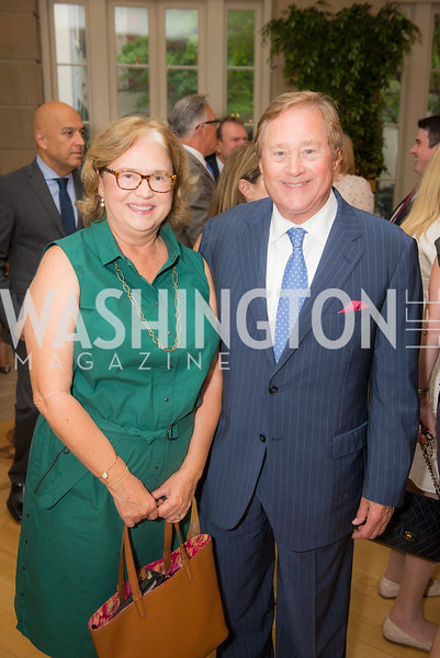 Janet Blanchard, Jim Blanchard,  50th Annual Meridian Ball Leadership Committee Reception at the Blair House, co-hosted with Ambassador Sean P. Lawler.  September 13, 2018, Photo by Ben Droz.