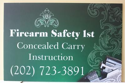 Firearm Street Signs