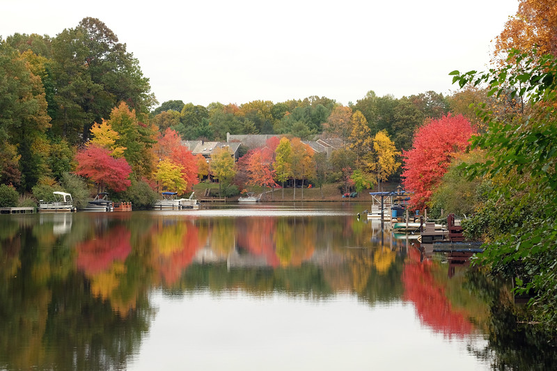 Lake Audubon in early fall colors