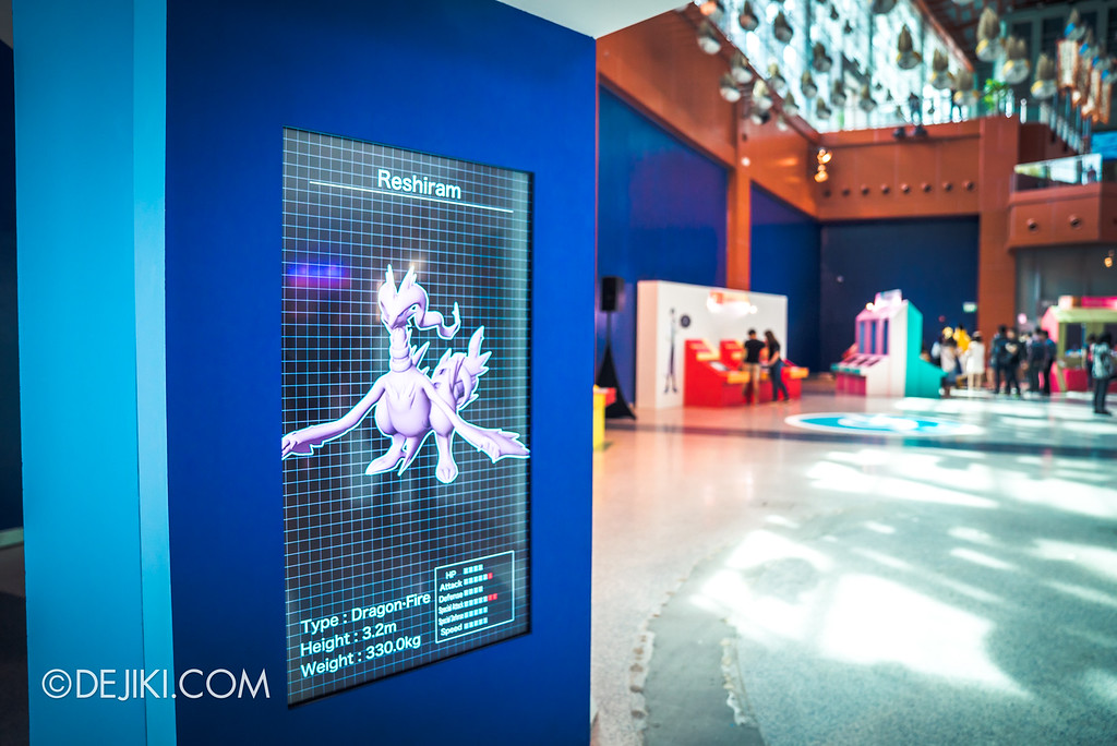 Pokémon Research Exhibition Launch -  Atrium with display showing legendary Pokemons