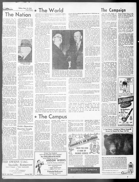 Daily Trojan, Vol. 40, No. 10, September 24, 1948