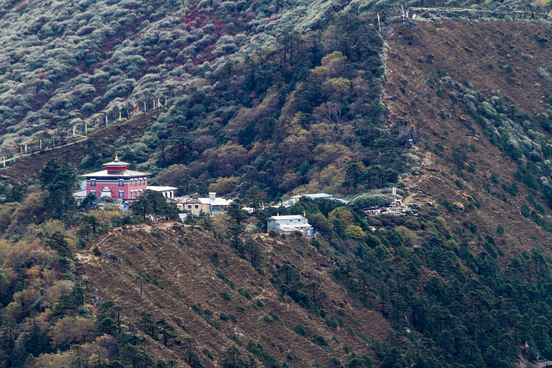 View of temple on mountain - Nepal