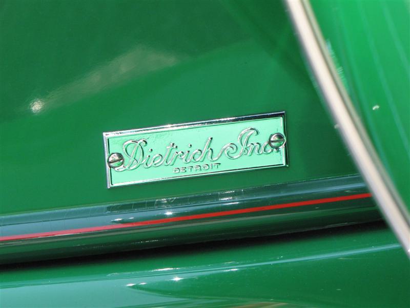 Packard 1108 Twelve Convertible Runabout. Dietrich body badge.