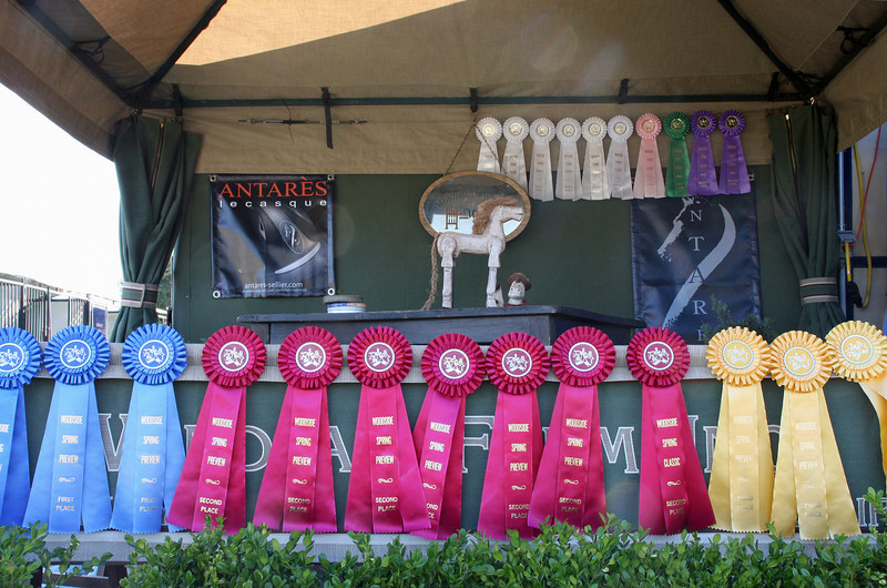 Everyone takes all their ribbons and displays them. (But apparently most people toss them in the trash before they leave.) The canopies include statues, artwork, furniture, draperies!