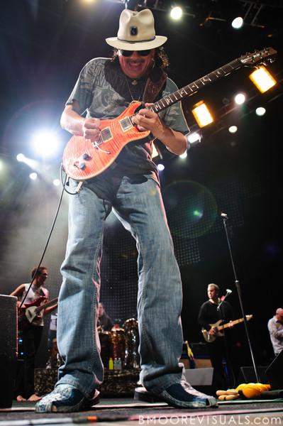 Santana performs on July 31, 2010 at 1-800-ASK-GARY Amphiteater in Tampa, Florida