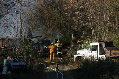Stanfordville Garage Fire - Oct. 30, 2007