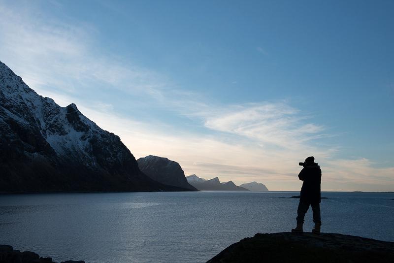 In einem Fjord auf den Lofoten