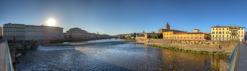 Arno Sunrise - Florence, Italy - June 16, 2013
