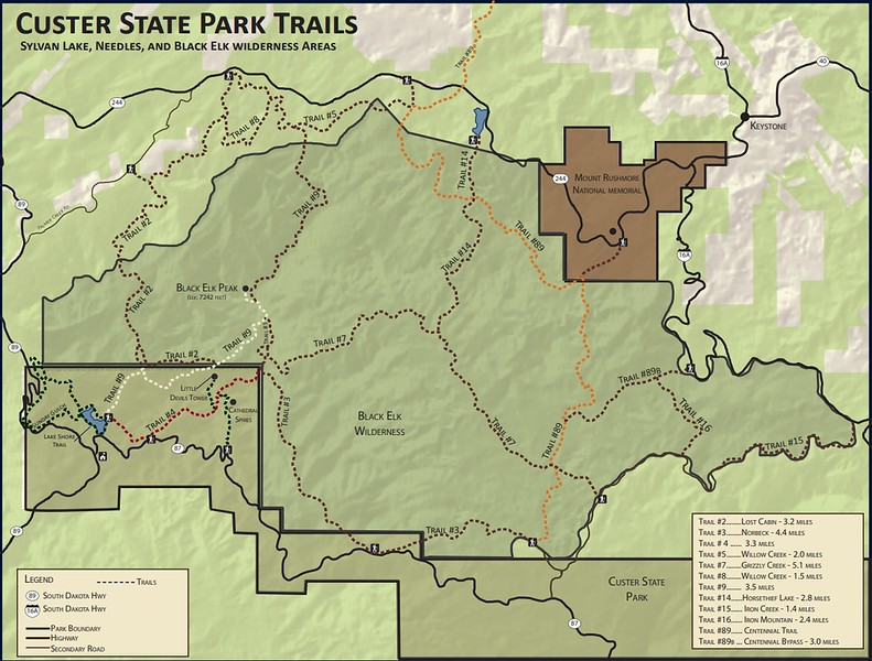 Custer State Park (Black Elk Peak Area Trails)