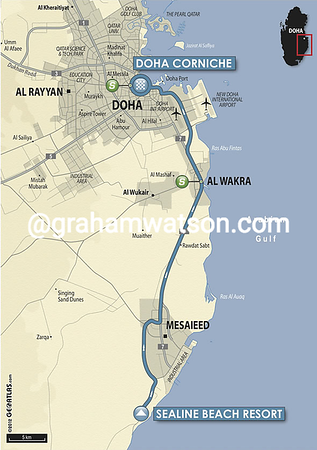 Tour of Qatar:  Stage 6 Sealine Beach Resort > Doha Corniche, 116kms