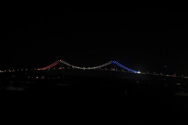 Newport Pell Bridge in Red, White & Blue