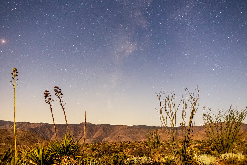 Milky Way With Moonlit Foreground In the Anza-Borrego Desert 2