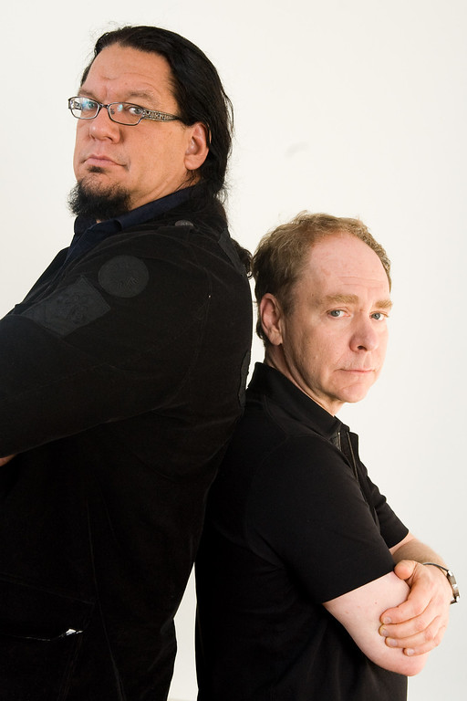 . Magicians Penn & Teller pose for a portrait, Wednesday, May 20, 2009 in New York. (AP Photo/Charles Sykes)
