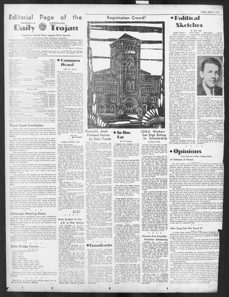 Daily Trojan, Vol. 26, No. 130, May 03, 1935