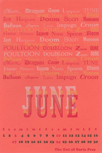 June, 1973, Out of Sorts Pres