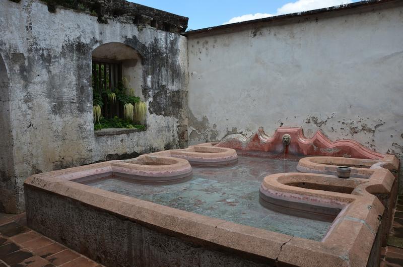 Washing basins in Church and Convent of Las Capuchinas