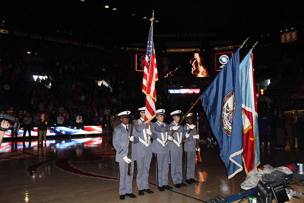 Color Guard at The Robins Center on 10 December