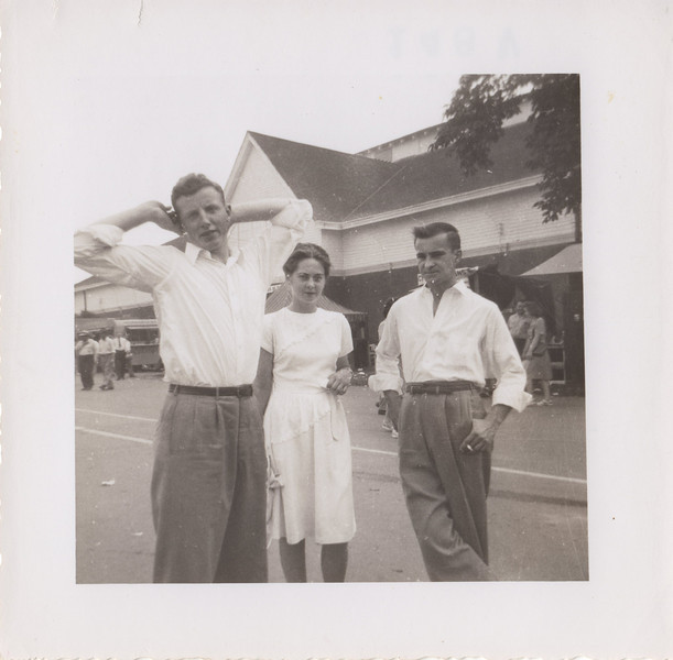How adorable is Mom in that darling dress?? and Dad with that typical stance...