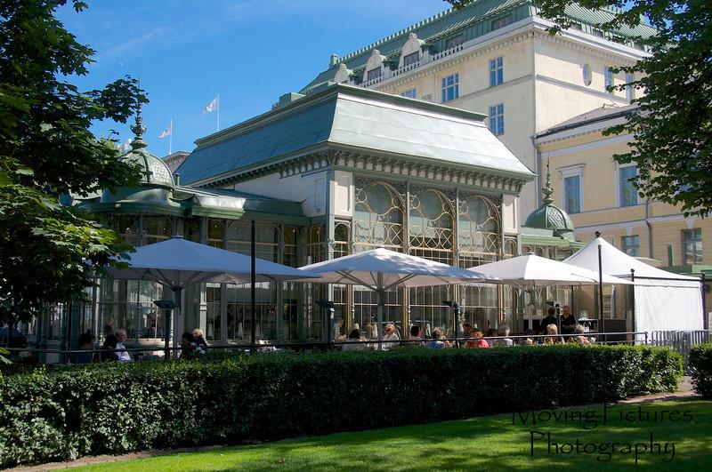 Helsinki - coffee shop along Esplanade