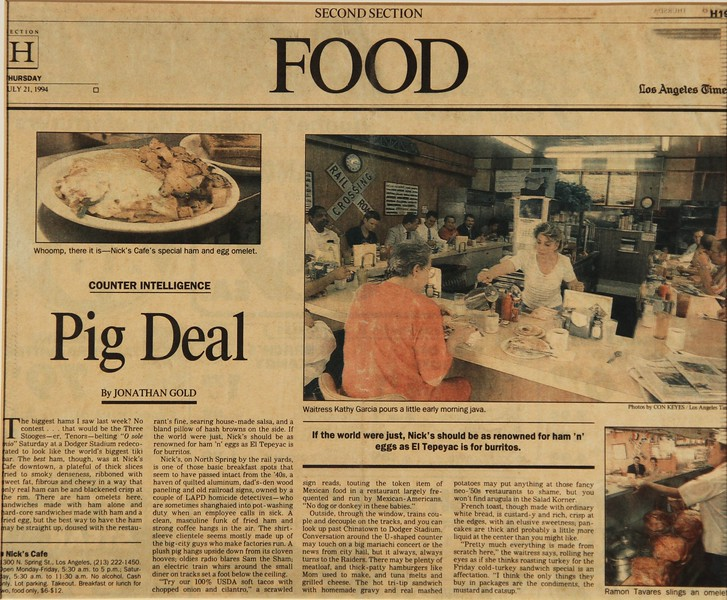 1994, LA Times Food Article