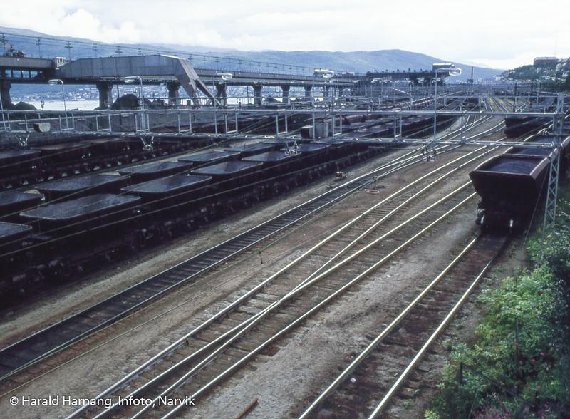 Ranger-stasjon for lossing av jernbanevogner. Bak LKABs høybaneanlegg.